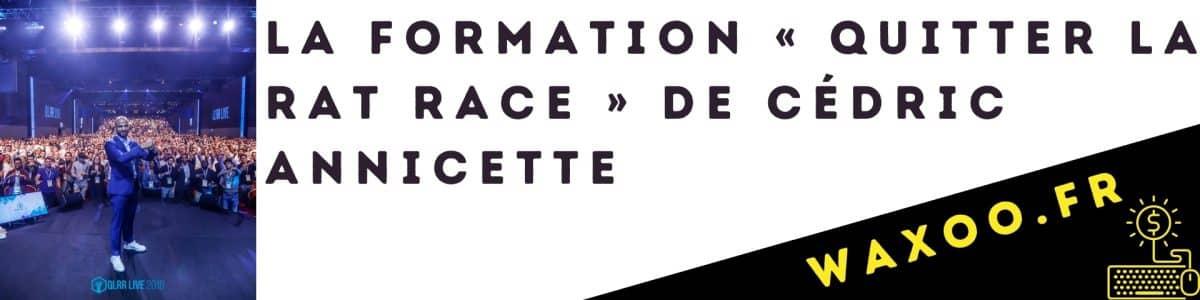 La formation « Quitter La Rat Race » de Cédric Annicette