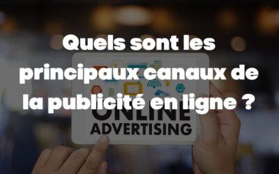 Quels sont les principaux canaux de la publicité en ligne ?
